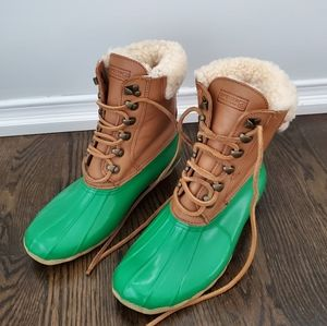 Sperry Top Sider Wool Lined Winter Boots Size 8